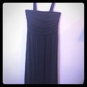Adjustable strap tube top maxi dress